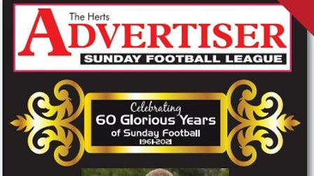 The cover of the Herts Ad Sunday League's anniversary book.