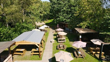 A view of the massive beer garden at The Gate in Bricket Wood.