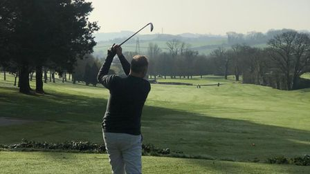 Teeing off at Dainton Park Golf