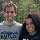 Tom Pitkin and Zoe Hughes at Raleigh Relays