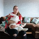 Sharon(andBeatrix, her continental giant bunny),benefitted from a grant after her diagnosis.