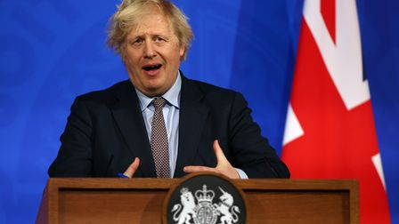 Prime Minister Boris Johnson during a media briefing on coronavirus (Covid-19) from Downing Street's