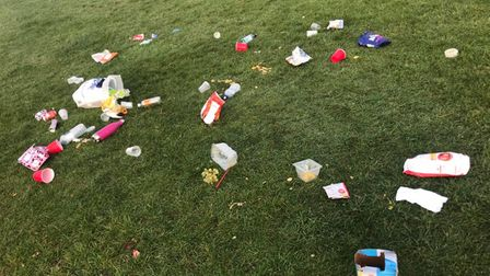 Rubbish left behind by visitors to Verulamium Park. Picture: Inn on the Park
