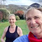 Jo Earlam and Leeann Thomson enjoying a spring run