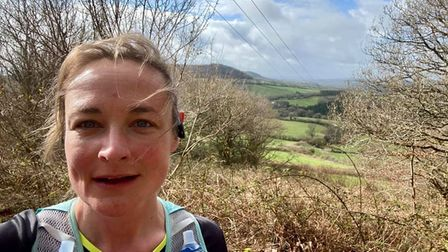 Sarah Burston out on the nature trail