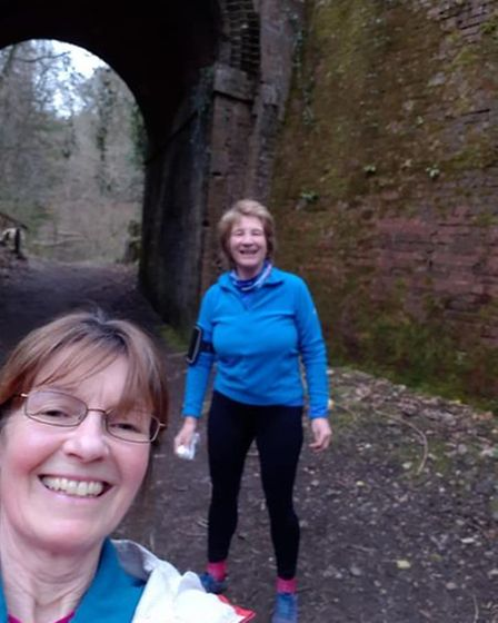 Tunnel running withBrigid McSmith and Ann Cole