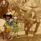 MeetIlfracombe Museum'syoung explorers Pip and Kim