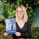 Lucy Hounsom with her latest book - Sistersong