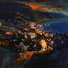 Night Lights, Sidmouth, by artist Mike Bernard