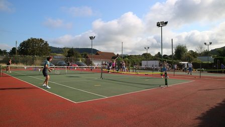 Sidford Tennis Club open for business