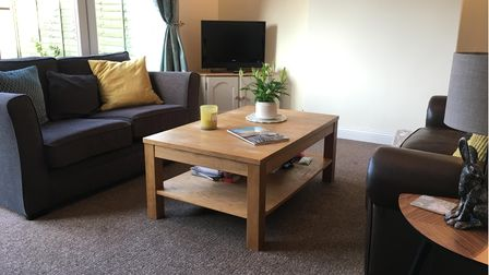 Interior of a house in Plymouth, Devon, furnished for just £245 via freeycled items.