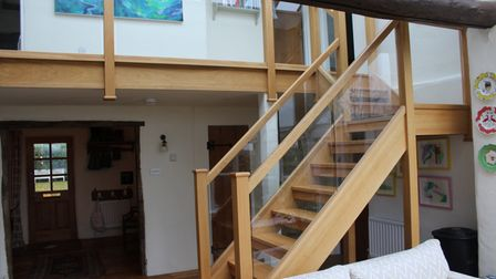 Newly refurbished staircase in home in Hampshire