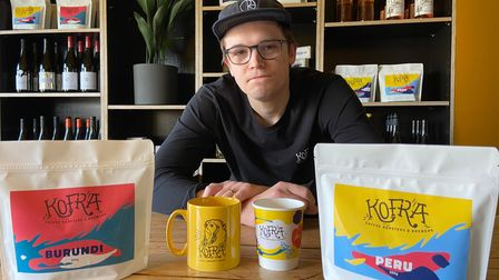 General manager of the Trowse Kofra coffee shop Simeon Jankowski.