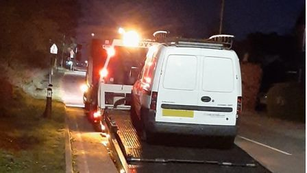 Two men were arrested in the early hours of yesterday morning, in the Southdown area of Harpenden