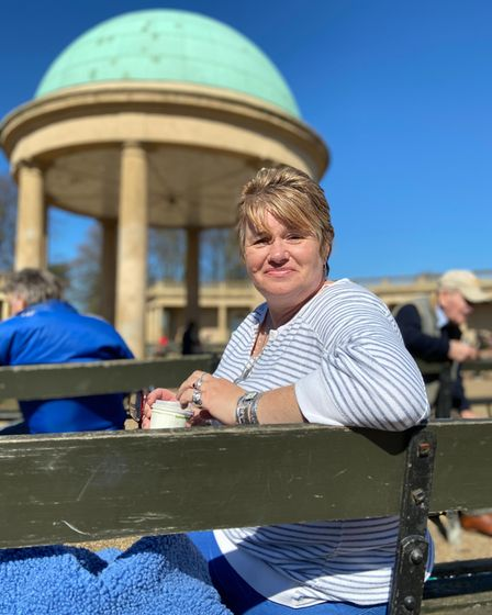 Andrea Large found it challenging while the Eaton Park pavilion toilets were closed