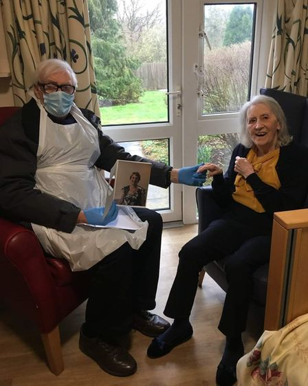 Ken Coad visited his wife Fay at Allington Courton her birthday
