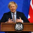 Prime Minister Boris Johnson during a media briefing on COVID-19 from Downing Street.