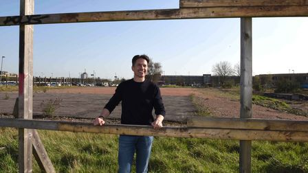 Robert Whitton, Founder and Chairman of Impact Capital Group on the site of the old Romford Ice Rink