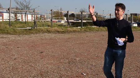 Robert Whitton,Founder and Chairman of Impact Capital Group on the site of the old Romford Ice Rink