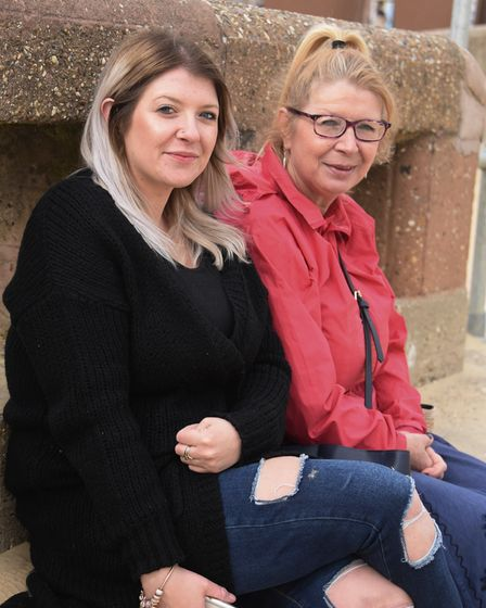 Covid rules eased vox pop. Jaz Osorio, left, and her mum, Tanya Foulger. Picture: DENISE BRADLEY