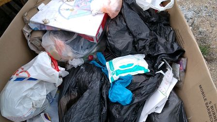 Some of the fly-tipping which was found in Ipswich.