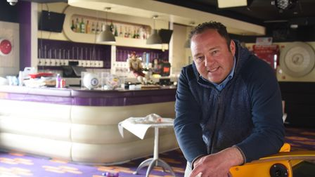 Michael Manning in the sports bar being refurbished at the Claremont Pier in Lowestoft. Picture: DEN