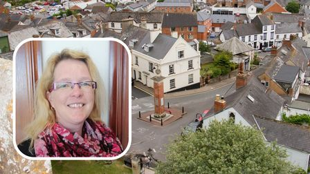 Cllr Vicky Johns, the mayor of Ottery, gives her message to the community
