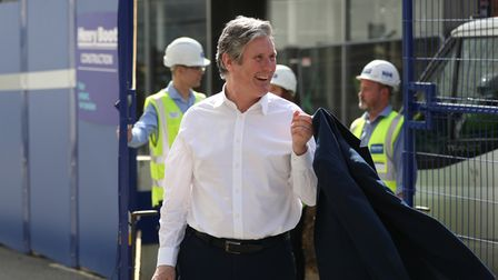 Labour Party leader Sir Keir Starmer during a visit to Sheffield, South Yorkshire, ahead of May's local elections