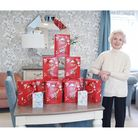 Suzanne Dean, homeowner at Tumbling Weir Court with the Easter Eggs