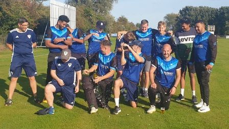 St Ives & Warboys Cricket Club celebrate