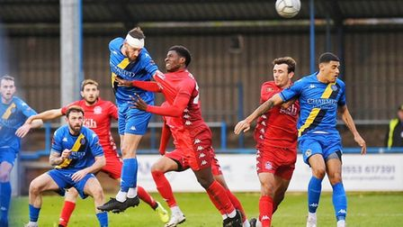 Rory McAuley puts King's Lynn Town ahead against Dover Athletic