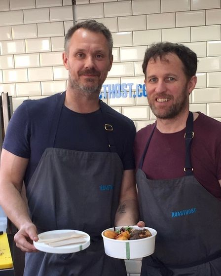 Glen Halsey and Mike Matthews are the duo behind RoastHost offering click and collect Sunday roasts at the Wenlock & Essex