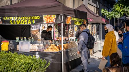 Traders at Wanstead and South Woodford market