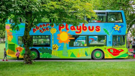 The original and colourful 1999 Hackney Playbus.