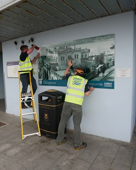 The Marine Spa graphic is installed by Torbay Direct printers.