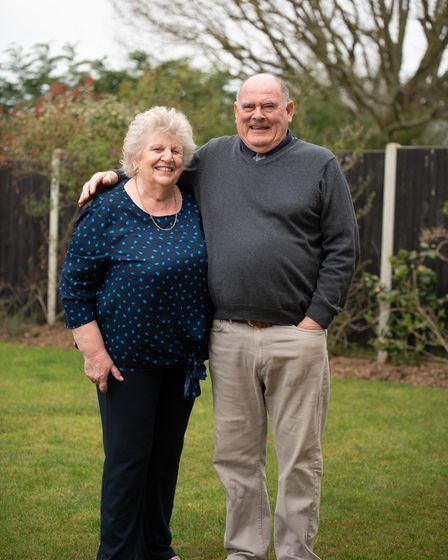Ann and Ron Stacey are looking forward to seeing their family again after shielding all year. Pictu