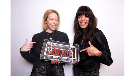 Jenny Powell with Kelly Pegg, co-hosts of TheHotMessMums podcast