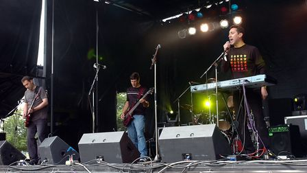 EADT/STARRocking with Raindance at the Ipswich music day in Christchurch Park yesterday.Picture