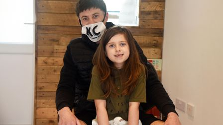 Keiren Camps with his daughter Myla
