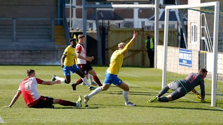 during the National League match between Torquay United and Woking at Plainmoor Torquay, Devon on Fr