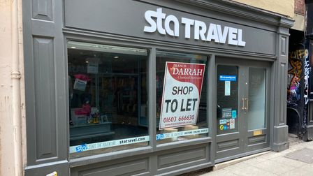 The former STA Travel in Norwich, another tourism business hit the pandemic.