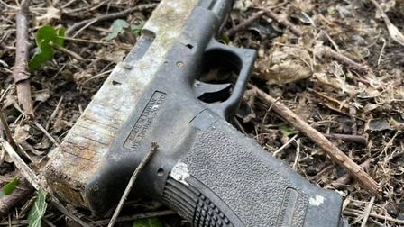 Theairsoft pistol found on a litter pick in Chantry today