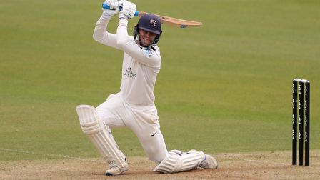 Middlesex's Nick Gubbins during a pre-season match against Surrey at The Oval