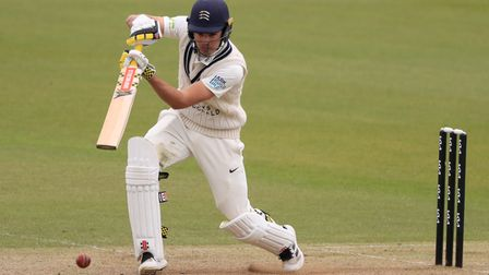 Middlesex's Max Holden during a pre-season match against Surrey at The Oval