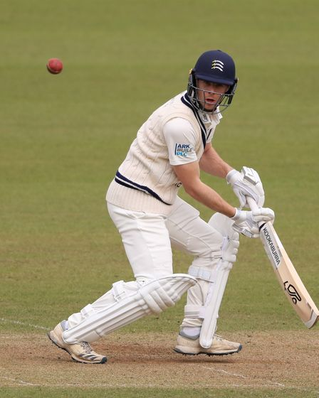 Middlesex's Robbie White during a pre-season match against Surrey at The Oval