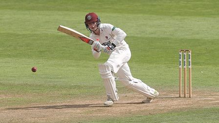 Tom Abell in batting action for Somerset