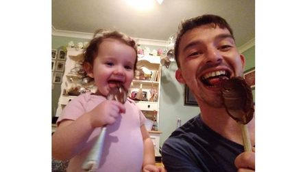 Daisy and Tom having fun together