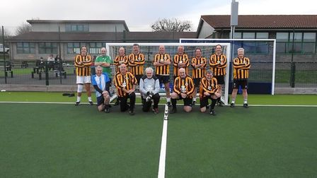 Hendo's Heroes at Cheddar Walking Football Club's Vice-Chairman's Cup clash