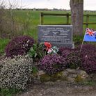 The entrance of the former airfield at Graveley.