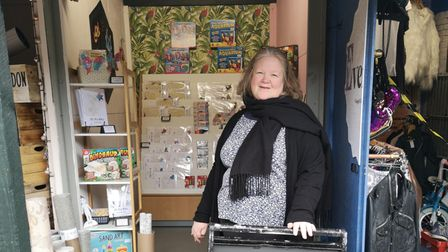 Jenni Tilbrook the owner of Crafty Kits, a new shop opening in St Ives.